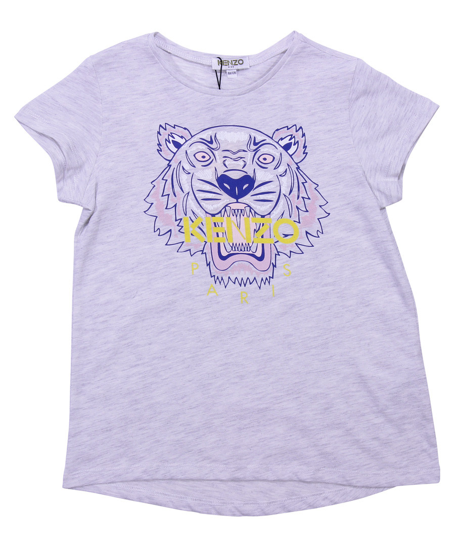 Grey pure cotton logo T-shirt Sale - kenzo kids