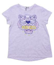 Grey pure cotton logo T-shirt