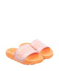 Orange casual slip-ons