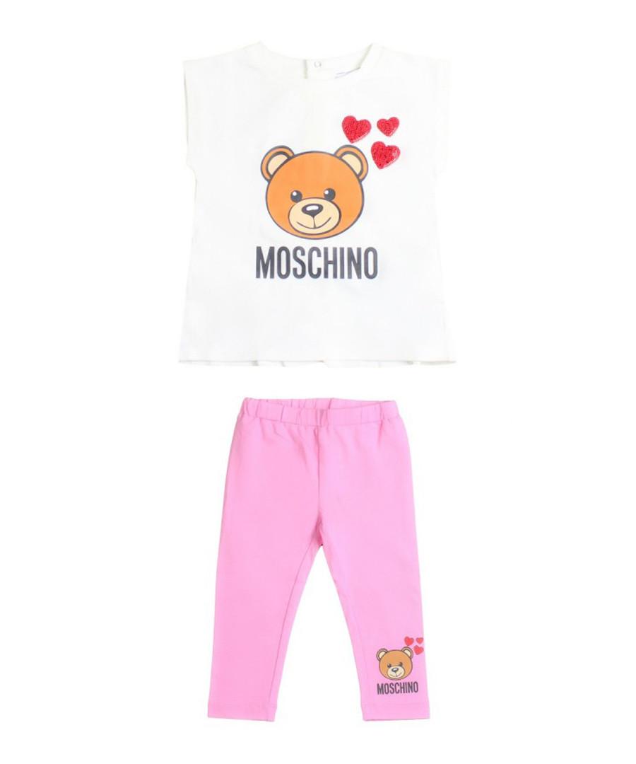 2pc Multi-colour bear logo shirt set Sale - moschino baby