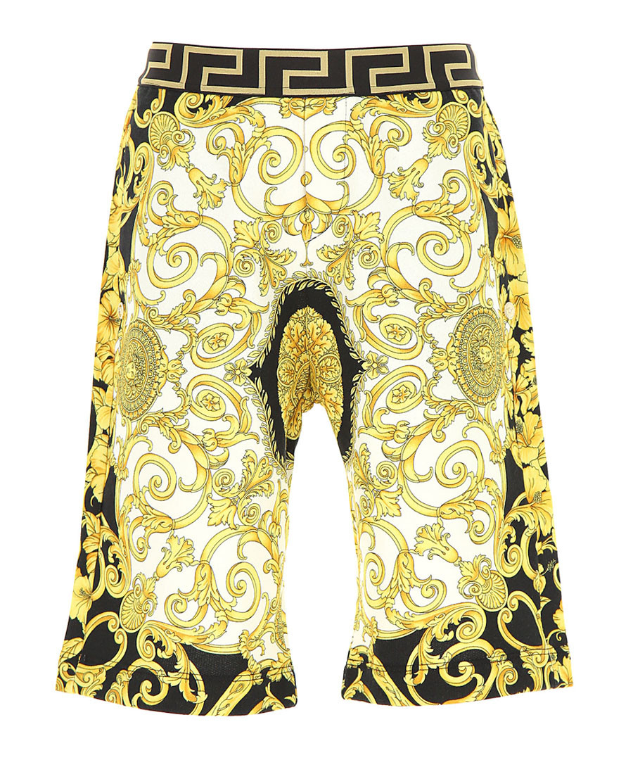 Multi-colour pure cotton print shorts Sale - young versace