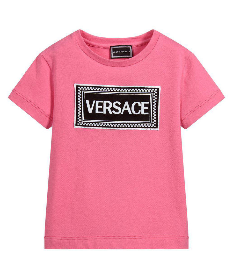 Pink pure cotton logo T-shirt Sale - young versace