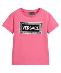 Pink pure cotton logo T-shirt