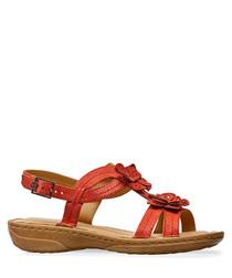 Flame flower embellishment sandals