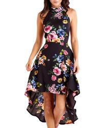 Multi-colour high low dress