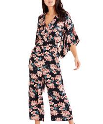 Multi-colour floral jumpsuit