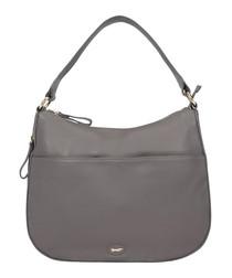 The Calathea black leather shoulder bag