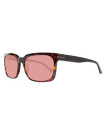 Brown & red lens sunglasses