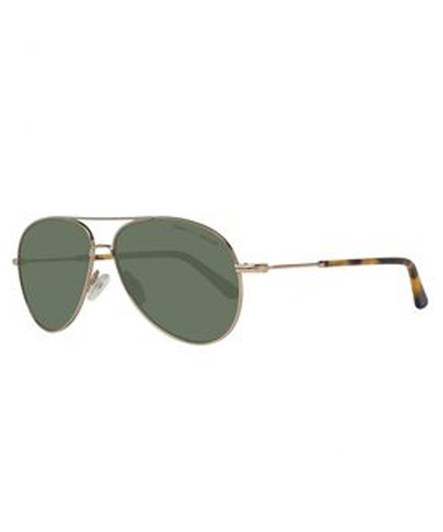 Gold-tone & olive aviator sunglasses Sale - gant