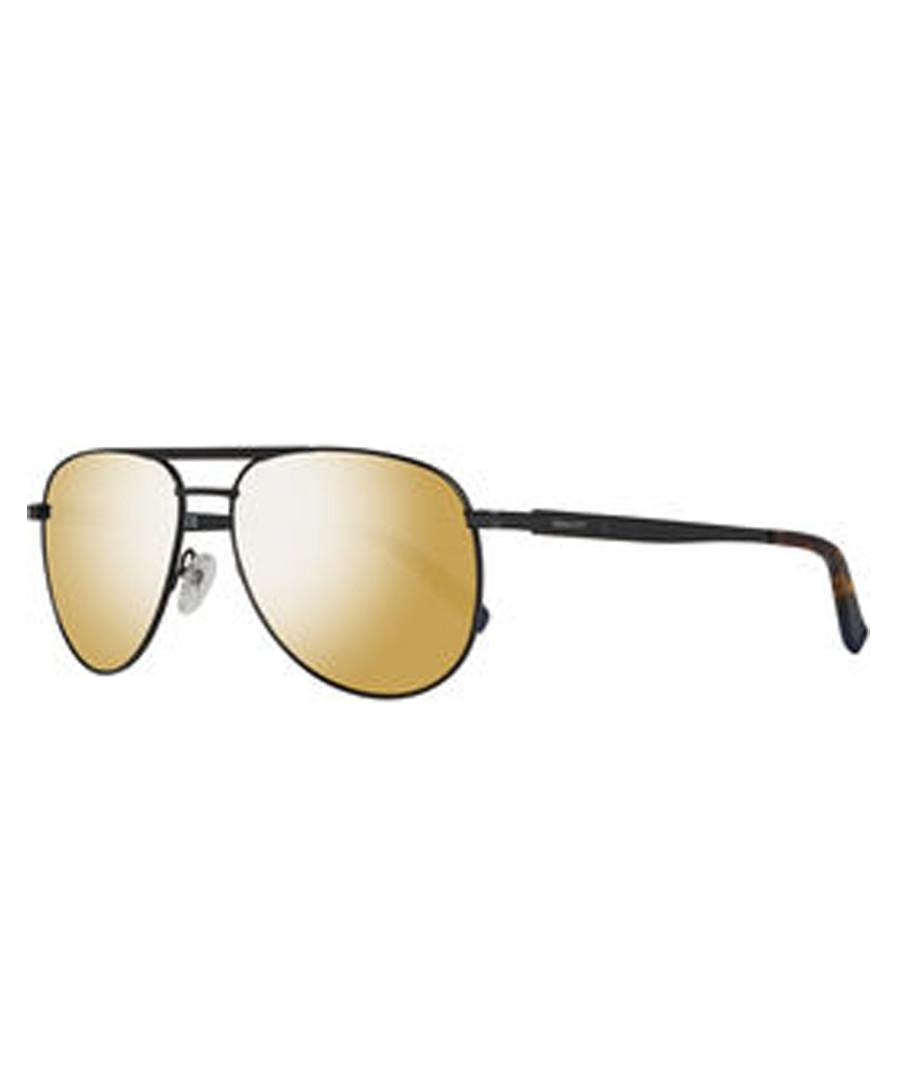 Black & gold-tone aviator sunglasses Sale - gant