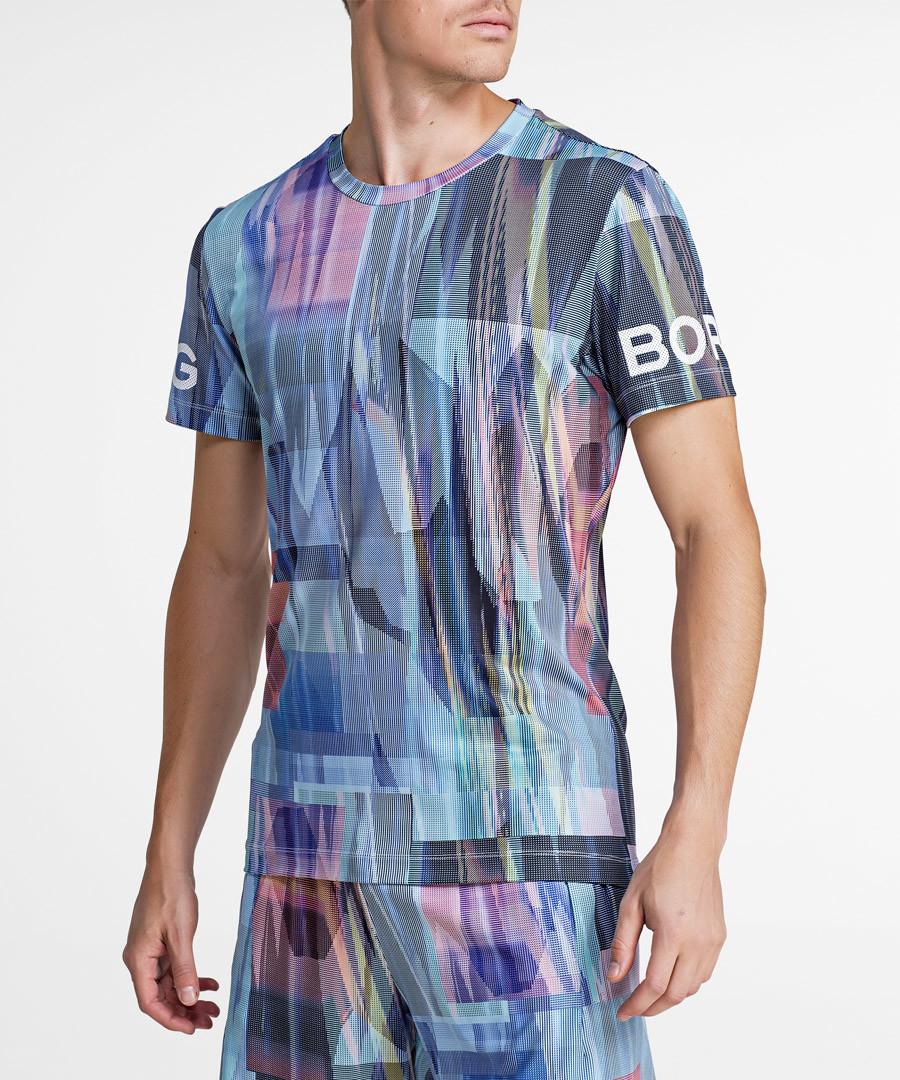 Multi-colour mist sleet print T-shirt Sale - Bjorn Borg