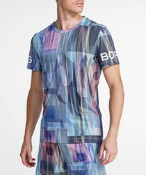 Multi-colour mist sleet print T-shirt