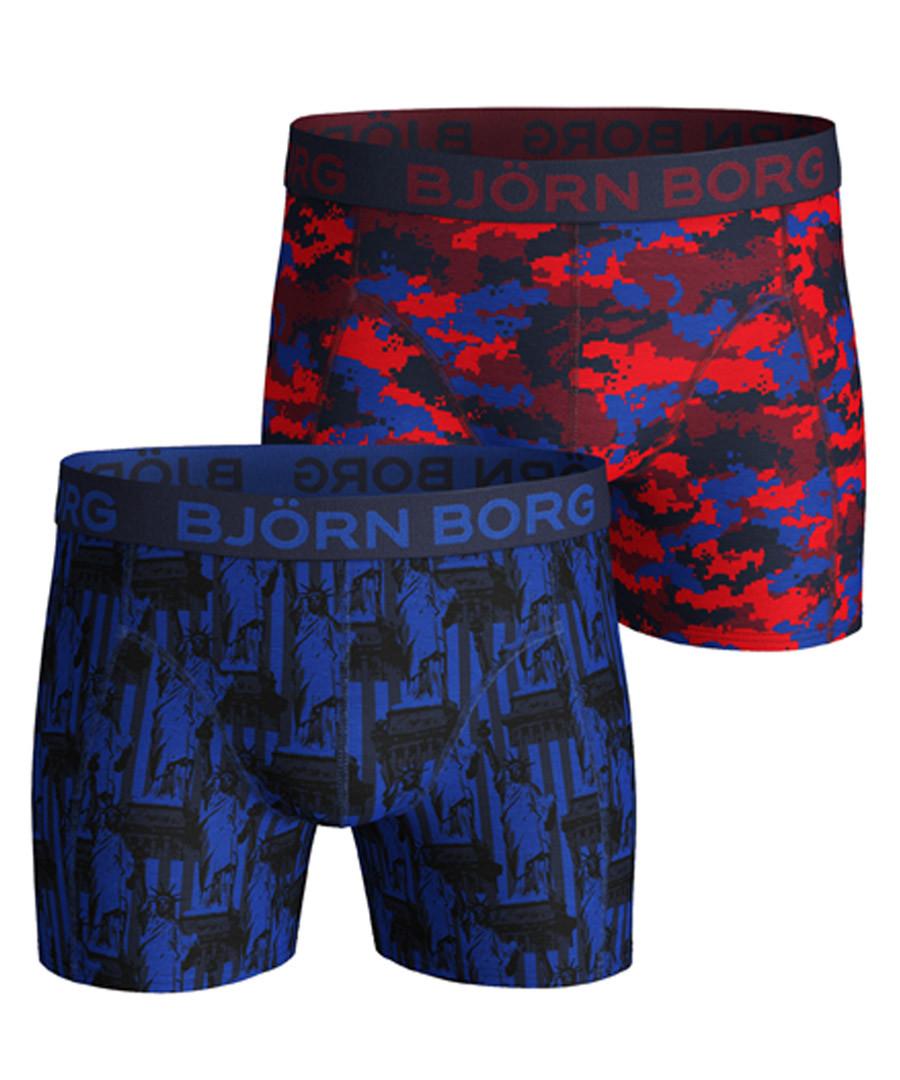 2pc Statue Of Liberty & NY print boxers Sale - bjorn borg