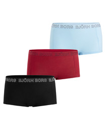 3pc Seasonal solids mini shorts set