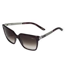 purple silver-tone & brown sunglasses