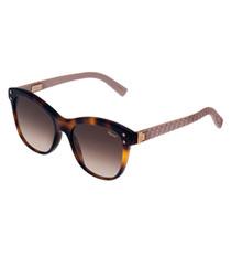 Havana pink & brown sunglasses