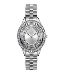 Bellini steel & diamond oval watch