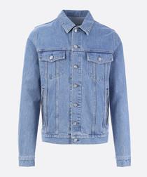 Blue pure cotton denim jacket