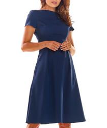 Navy blue A-line dress