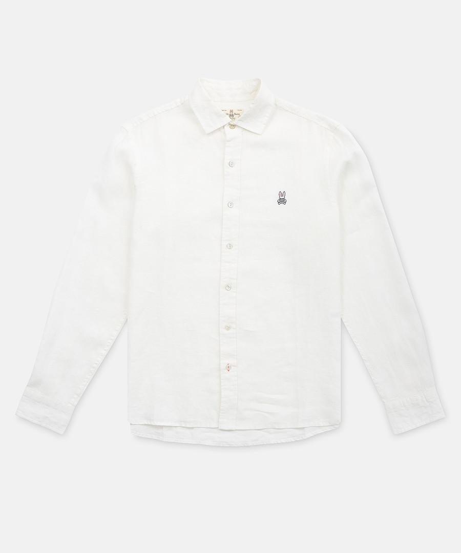 White pure cotton button-up shirt Sale - Psycho Bunny