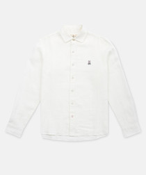 White pure cotton button-up shirt