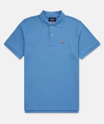 Cornflower blue pure cotton T-shirt