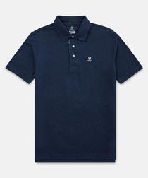 Navy pure cotton T-shirt