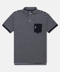 Navy pure cotton stripe T-shirt