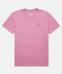Heather hibiscus pure cotton T-shirt