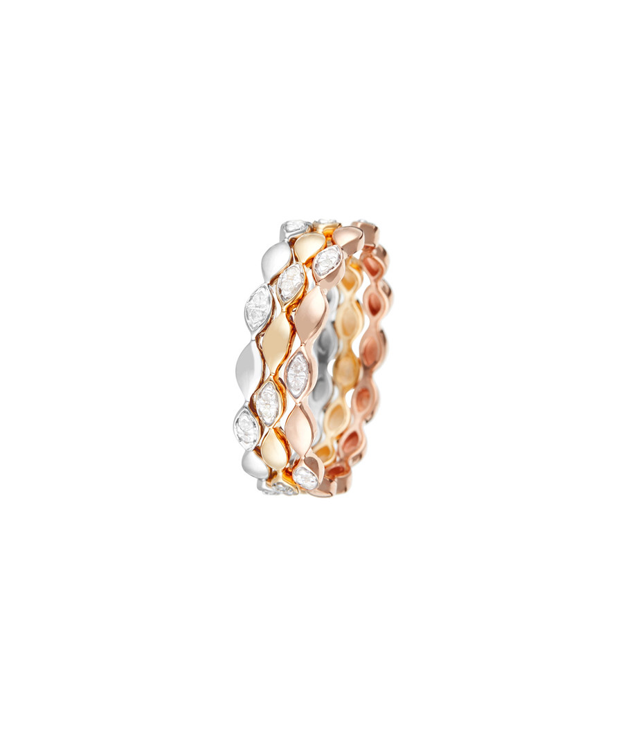 Trinity tri-gold 0.15ct diamond ring Sale - diamond & co.