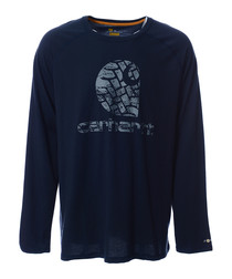 Delmont navy long sleeve top