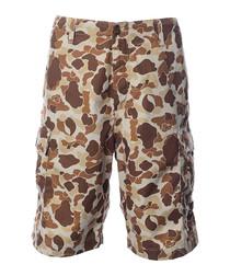 Terra camo print cargo shorts