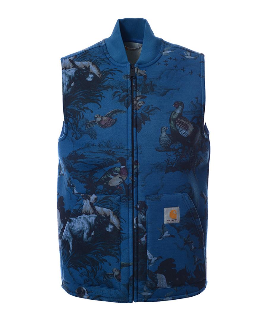 Car Lux Blue & grey hunter print vest Sale - carhartt
