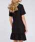Black short sleeve ruffle hem dress  Sale - made of emotion Sale