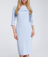 Pale blue frill trim midi dress Sale - made of emotion Sale
