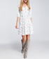Pastel feather print tiered mini dress Sale - made of emotion Sale
