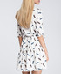 Dark feather print tiered mini dress Sale - made of emotion Sale