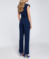 Navy cut-out cap sleeve jumpsuit Sale - made of emotion Sale