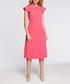 Pink winged cap sleeve midi dress Sale - made of emotion Sale