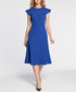 Royal blue winged cap sleeve midi dress Sale - made of emotion Sale