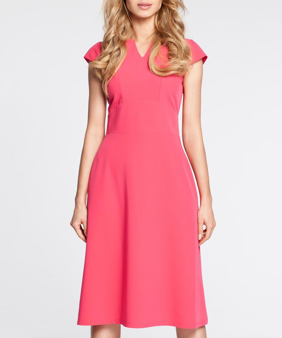 Pink cap sleeve mini V-neck dress Sale - made of emotion