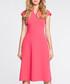 Pink cap sleeve mini V-neck dress Sale - made of emotion Sale