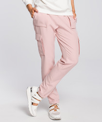 Powder straight multi-pocket trousers