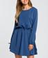 Blue long sleeve skater dress Sale - made of emotion Sale