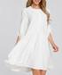 Ecru button-up shift dress Sale - made of emotion Sale
