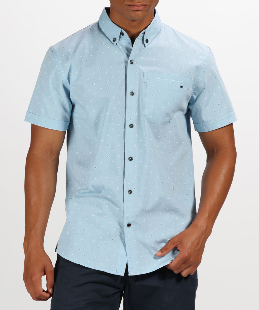 Powder blue button-up T-shirt Sale - regatta