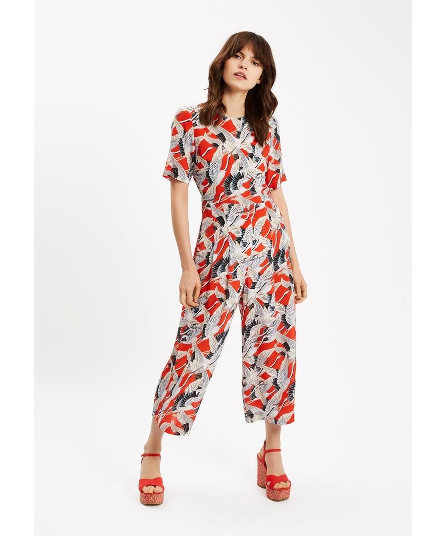 Bianca Bird Jumpsuit in Red Sale - Traffic People