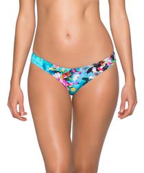 Multi-colour tropical bikini briefs