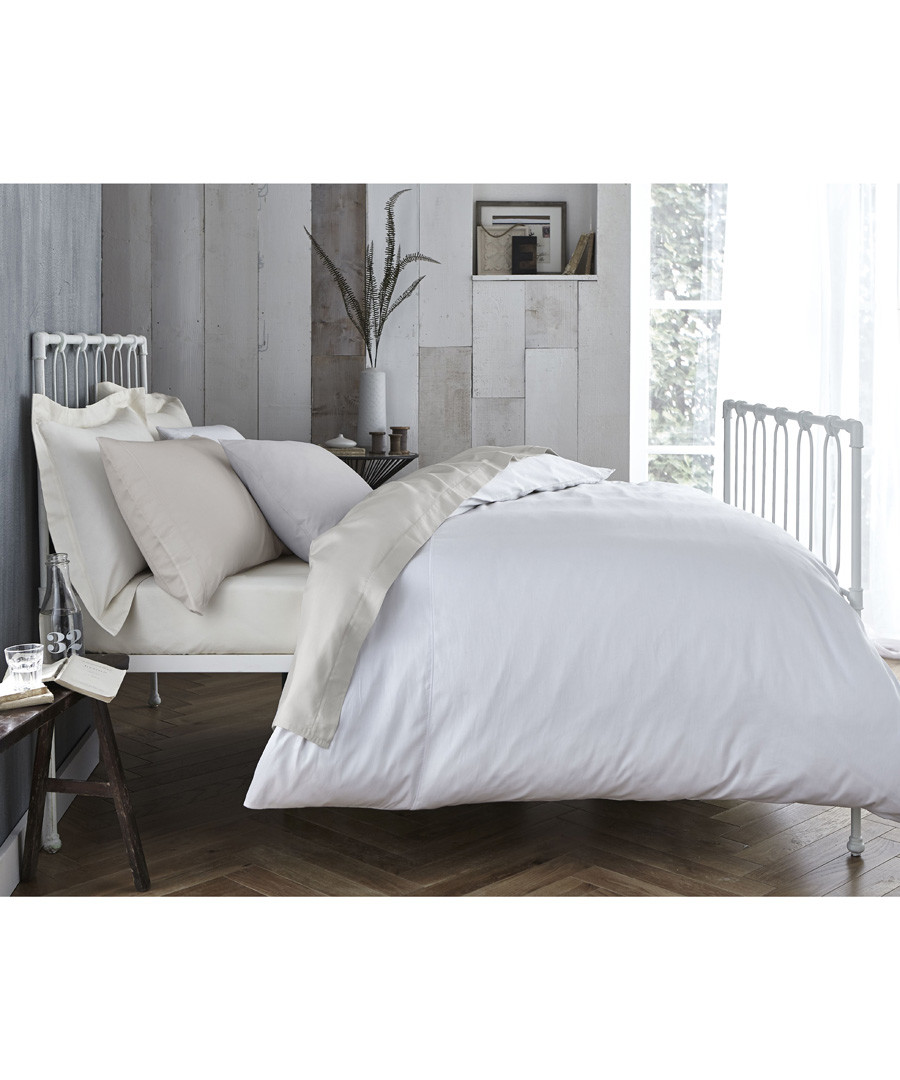 Cotton 200 neutral single flat sheet Sale - Bianca