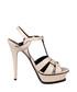 Beige leather platform heels Sale - saint laurent Sale